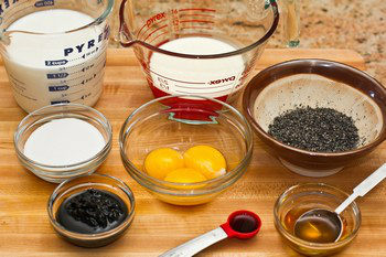 Black Sesame Ice Cream Ingredients
