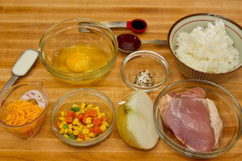 Omurice Ingredients