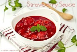 Strawberry Sauce | Strawberry Compote @Just One Cookbook.com