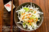 Daikon Salad (Radish Salad with Japanese Plum Dressing) 大根サラダ