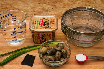 Clam Miso Soup Ingredients