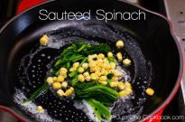 Quick Bento Dish – Sauteed Spinach