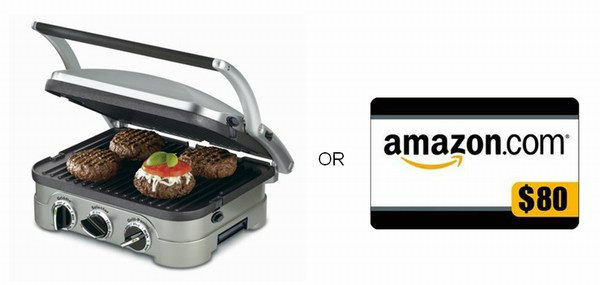 Cuisinart GR-4N 5-in-1 Griddler or $80 Amazon Gift Card Giveaway