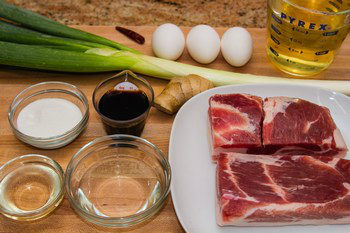 Braised Pork Belly (Kakuni) Ingredients