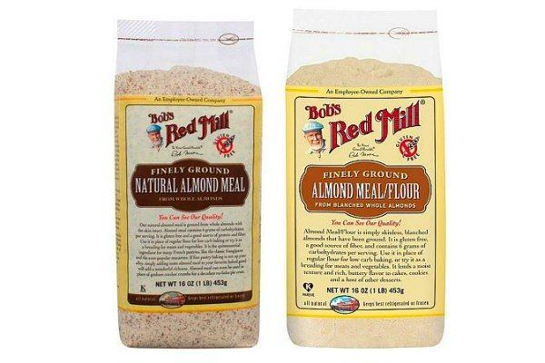 Almond Meal and Almond Flour in packages.