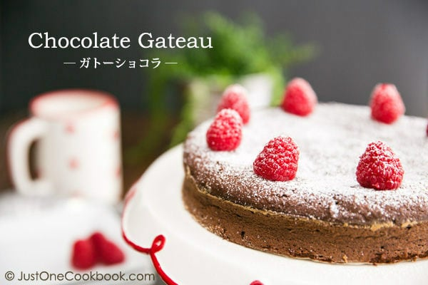 Chocolate Gateau Chocolate Cake ガトーショコラ Just One Cookbook