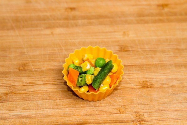 Frozen Vegetables in a cup.