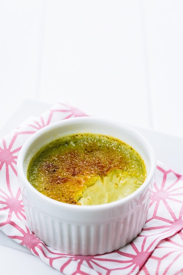 Green Tea Creme Brulee 抹茶クレームブリュレ Just One Cookbook