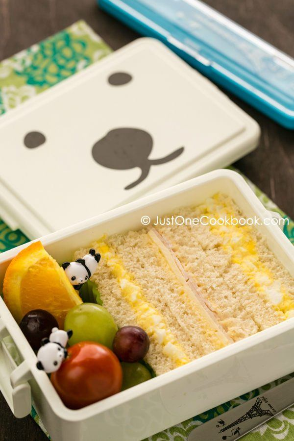 Egg salad sandwich in the bento box.