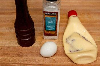 Egg Salad Sandwich Bento Ingredients