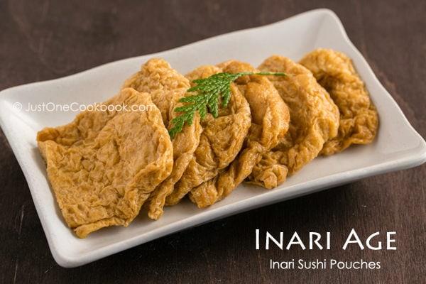 Inari Age on a white plate.