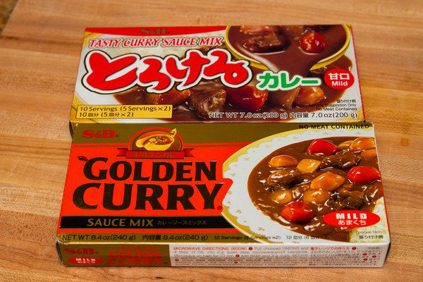 Japanese Curry Roux in boxes.