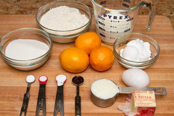 Meyer Lemon Pound Cake Ingredients
