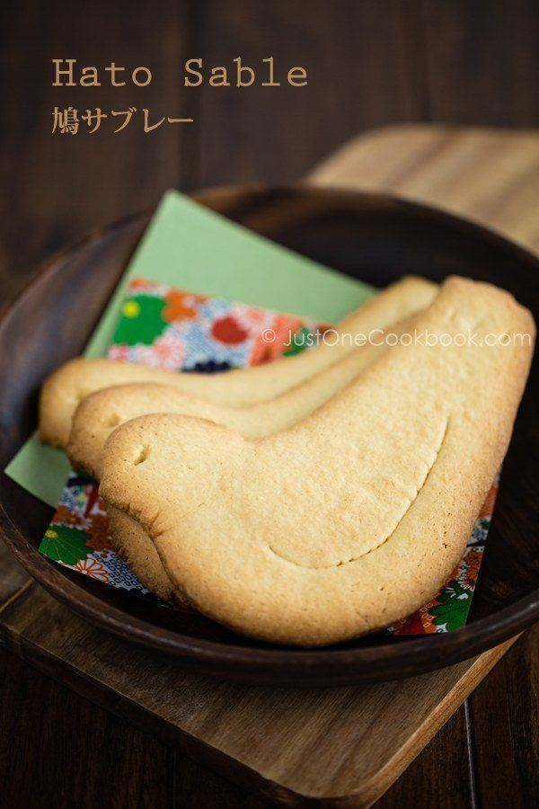 Butter Cookies on wooden plate with Japanese paper.
