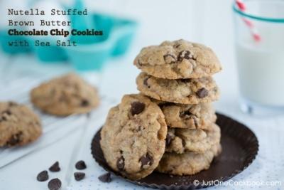 Chocolate Chip Cookies with Nutella   JustOneCookbook.com