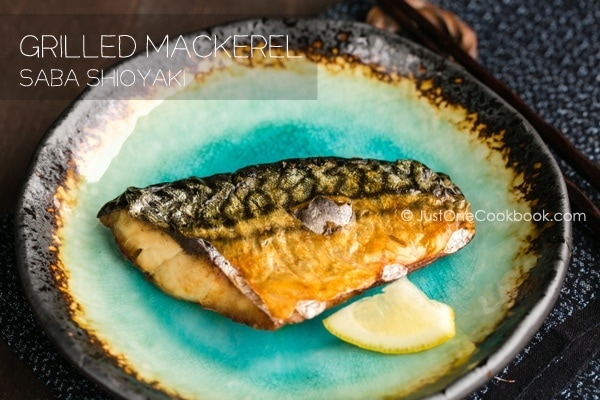 Grilled Mackerel on a plate.