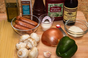 Ketchup Spaghetti Ingredietns