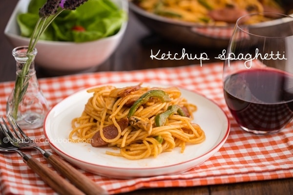 Ketchup Spaghetti | Easy Japanese Recipes at JustOneCookbook.com