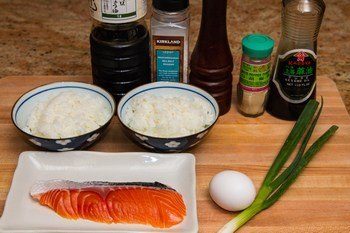 Salmon Fried Rice Ingredients
