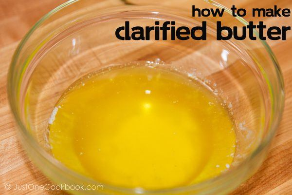 Clarified Butter in a glass bowl.