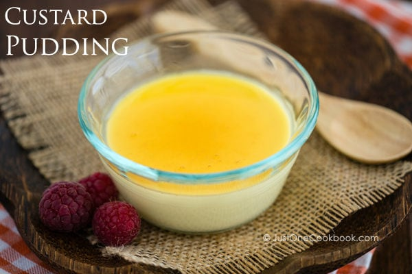 Custard Pudding, Purin in a glass cup.