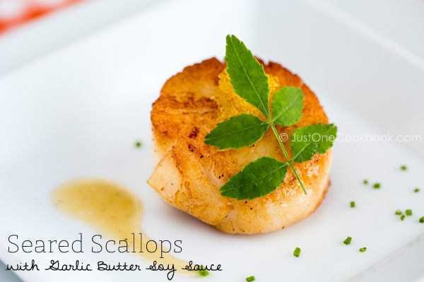 Seared Scallops | Easy Japanese Recipes at JustOneCookbook.com