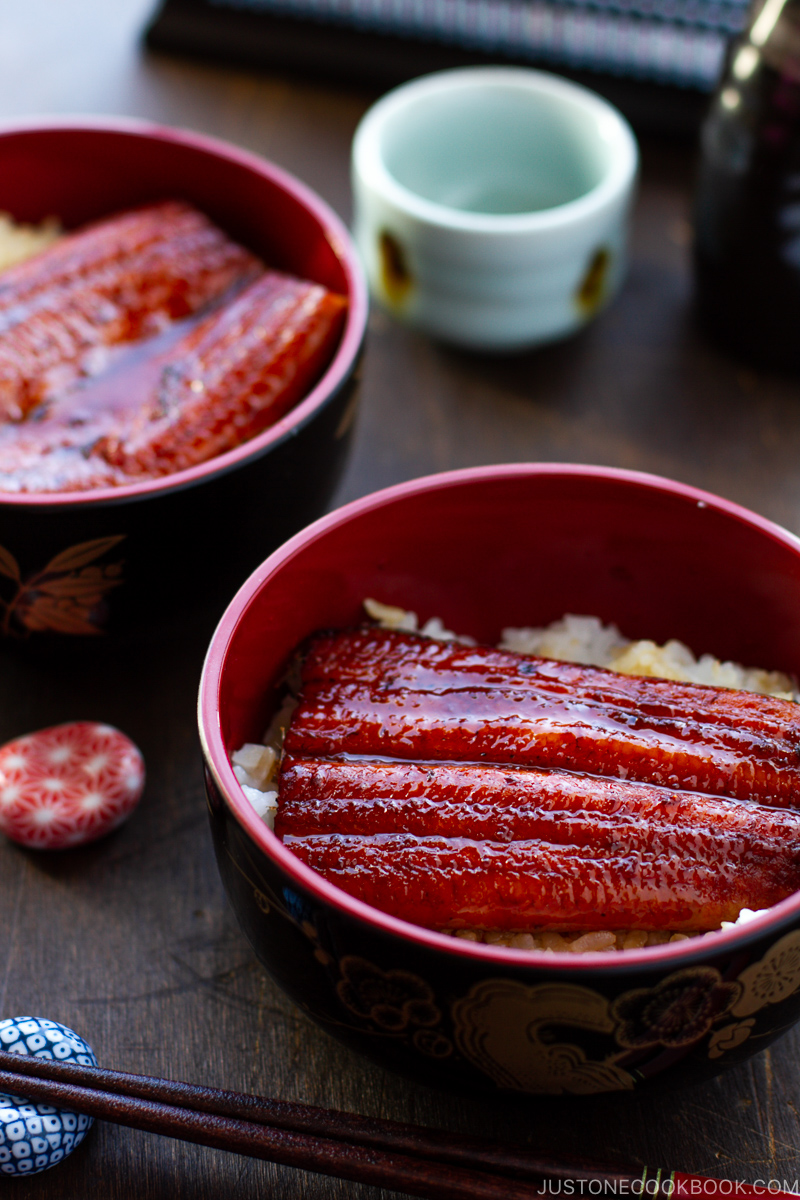 Unagi over rice.