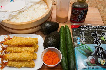 Dragon Roll Ingredients