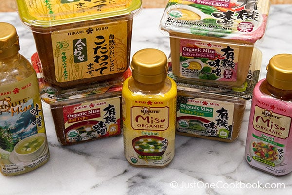 Hikari Miso in packages.