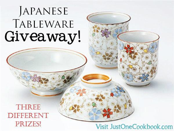 Japanese Tableware Giveaway | Easy Japanese Recipes at JustOneCookbook.com