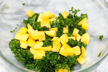 Massaged Kale Salad with Mango 3