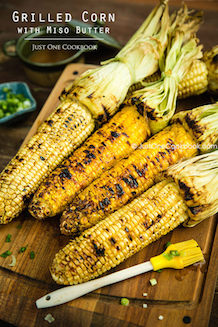 grilled corn brushed with miso butter