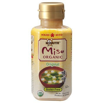 Minute Miso Original in a bottle.
