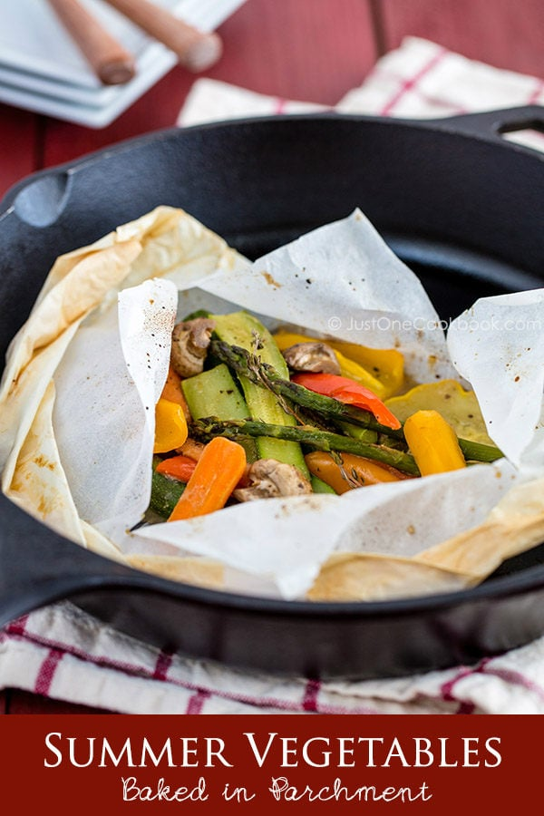 Summer Vegetables Baked in Parchment.