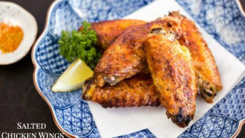 Teba Shio (Salted Chicken Wings) 手羽先塩焼き