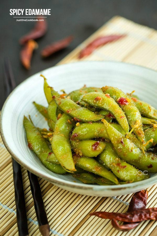 Japanese Spicy Edamame | Great Appetizers From All Around The World | Appetizers Menu