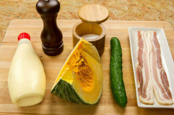 Kabocha Salad Ingredients