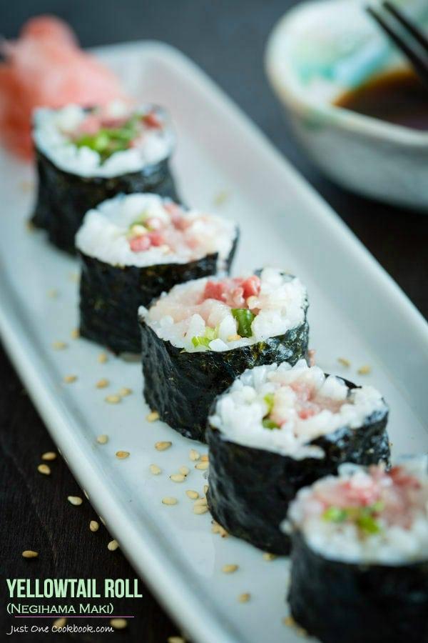 Yellowtail Roll (Negihama Maki) | Easy Japanese Recipes at JustOneCookbook.com