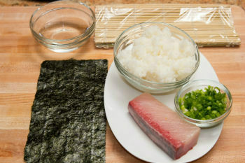 Yellowtail Roll Ingredients