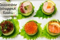 Cucumber Wrapped Sushi きゅうりの軍艦巻き
