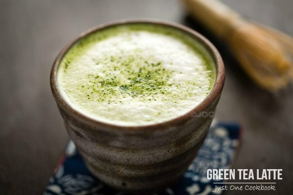 Green Tea Latte in a cup.