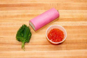 Kamaboko with Salmon Roe Ingredients