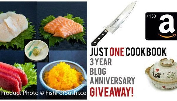 3 Year Blog Anniversary Giveaway | Easy Japanese Recipes at Just One Cookbook
