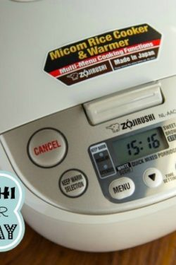 Zojirushi Rice Cooker Giveaway