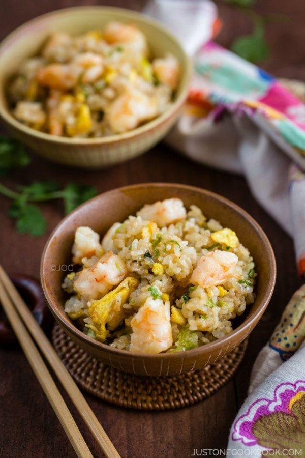 Shrimp Fried Rice in bowls.