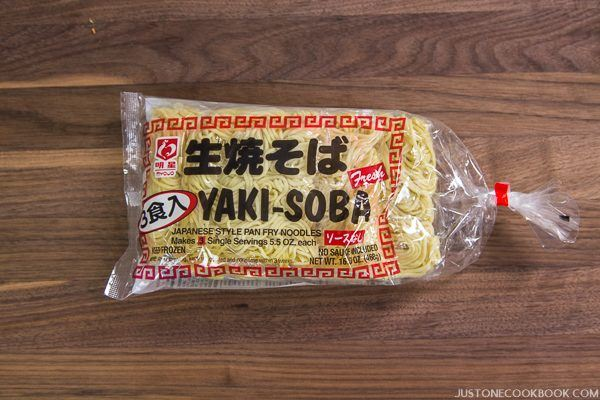 Yakisoba Noodles in a package.