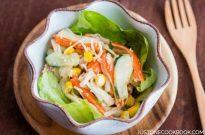 Crab Salad with Ponzu-Mayonnaise Dressing | Easy Japanese Recipes at JustOneCookbook.com