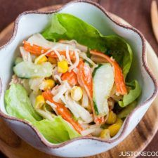 Crab Salad with Ponzu-Mayonnaise Dressing | Easy Japanese Recipes at JustOneCookbook.com