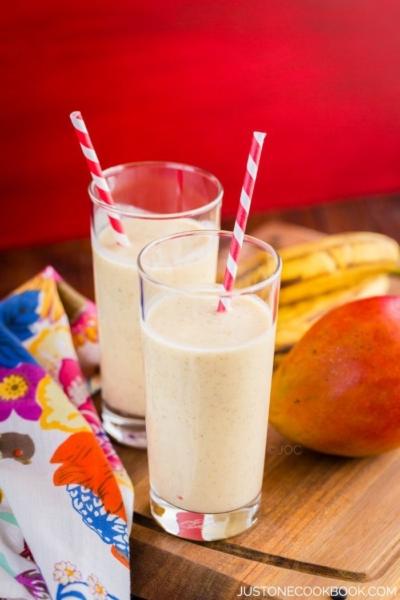 Mango Coconut Smoothie | Easy Japanese Recipes at JustOneCookbook.com