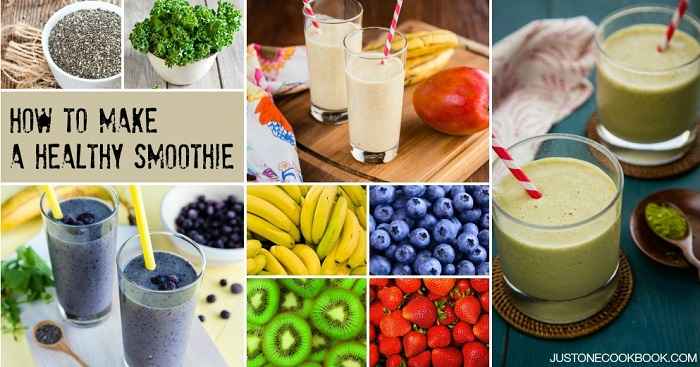Easy homemade healthy smoothies